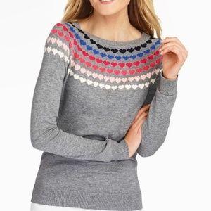 Talbots Heart Collar Sweater